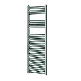 Blyss Chrome Flat ladder towel warmer (H)1600mm (W)450mm