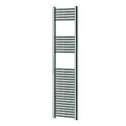 Blyss Chrome Flat ladder towel warmer (H)1800mm (W)400mm