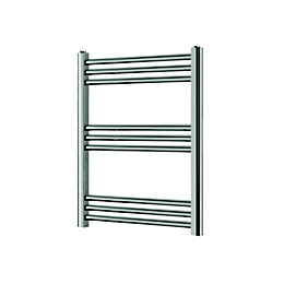 Blyss Leyburn Chrome Towel Radiator (H)700mm (W)500mm