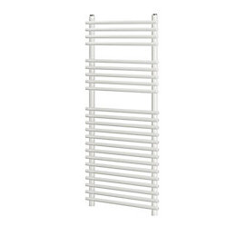 Blyss White Flat bar on tube towel warmer