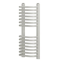 Blyss White Curved D bar towel warmer (H)700mm