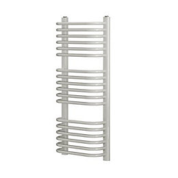 Blyss White Curved D bar towel warmer (H)900mm