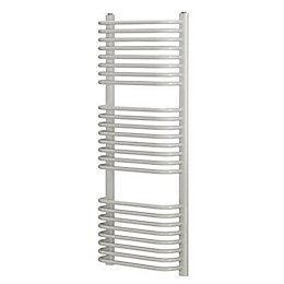 Blyss White Curved D bar towel warmer (H)1200mm