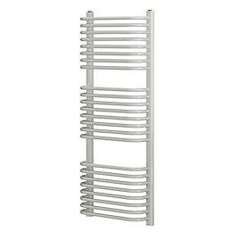 Blyss White Curved D bar towel warmer (H)1200mm