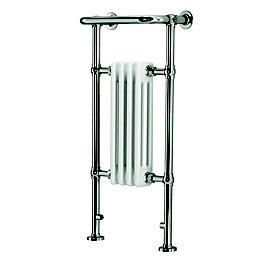 Blyss Victoria Chrome Curved Towel Radiator (H)952mm (W)479mm