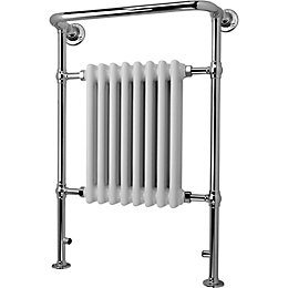 Blyss Victoria White Curved Towel Radiator (H)952mm (W)659mm