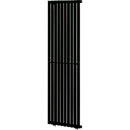 Blyss Wickham Vertical Radiator Anthracite (H)1800 mm (W)600