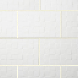 Alexandrina White Gloss Ceramic Wall tile, Pack of