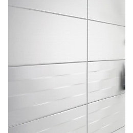 Brindisie White Satin Ceramic Wall tile, Pack of