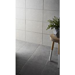 Cimenti Grey Matt Porcelain Floor tile, Pack of