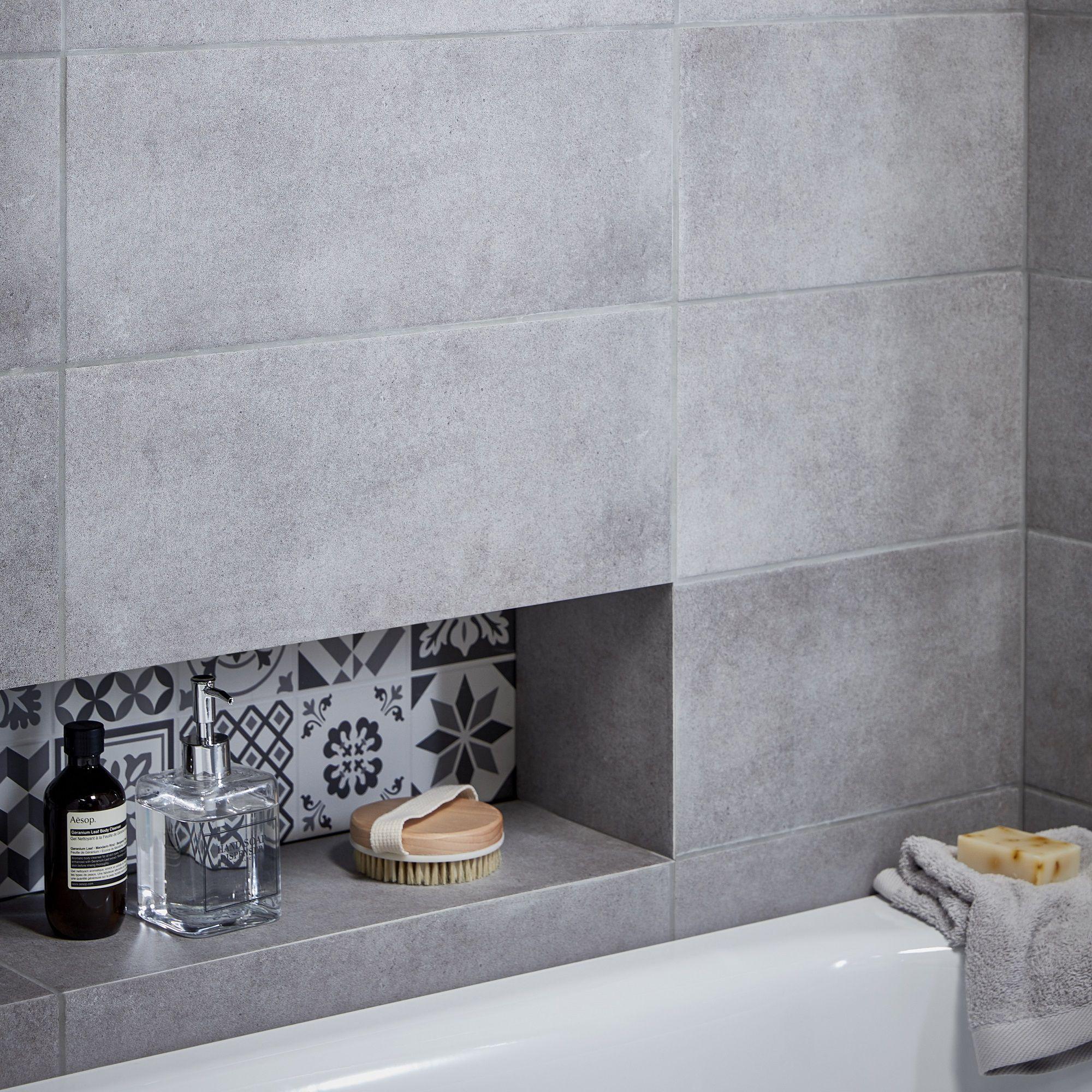 Konkrete Grey Matt Ceramic Wall Tile