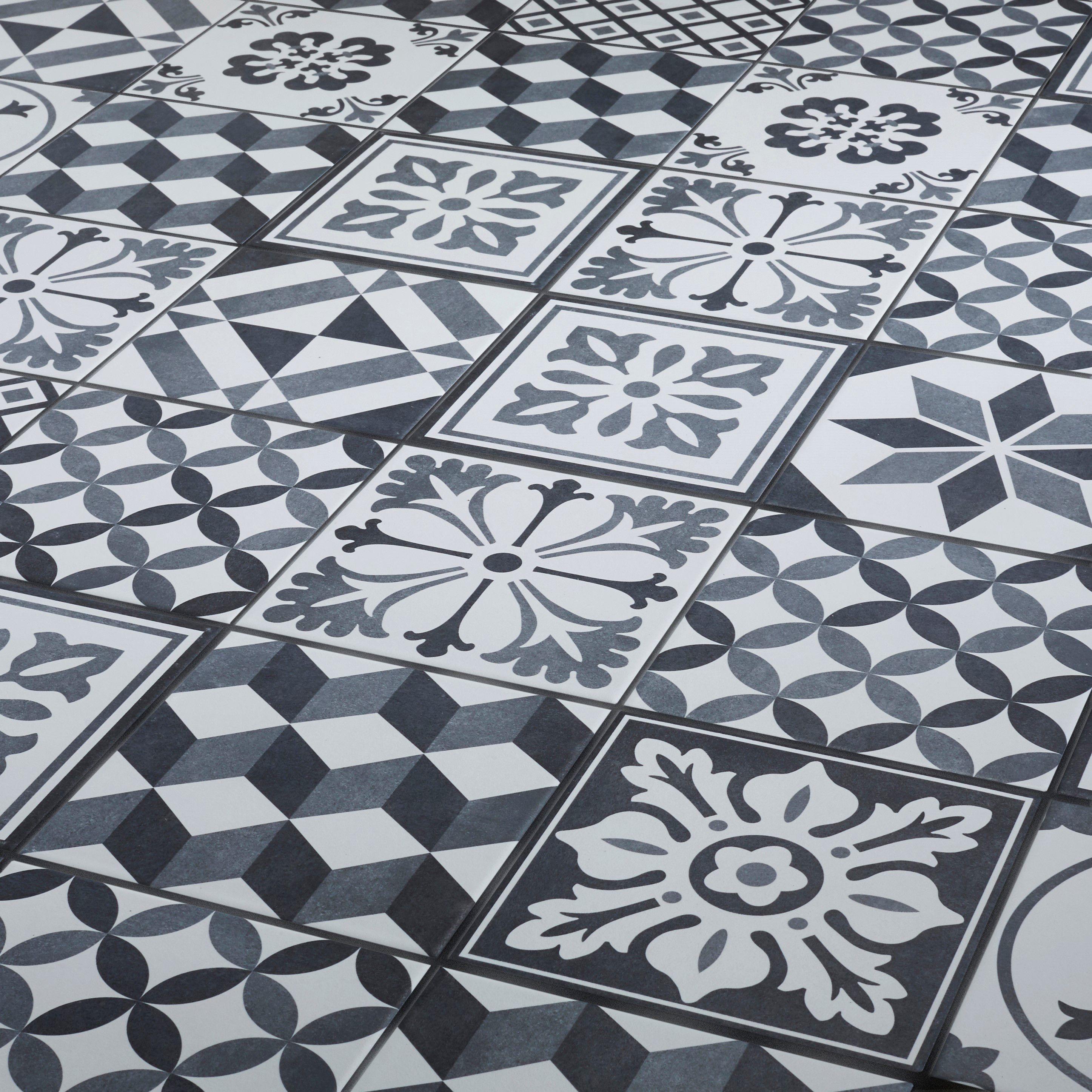 Konkrete Grey Matt D 233 Cor Mix Porcelain Floor Tile Pack Of