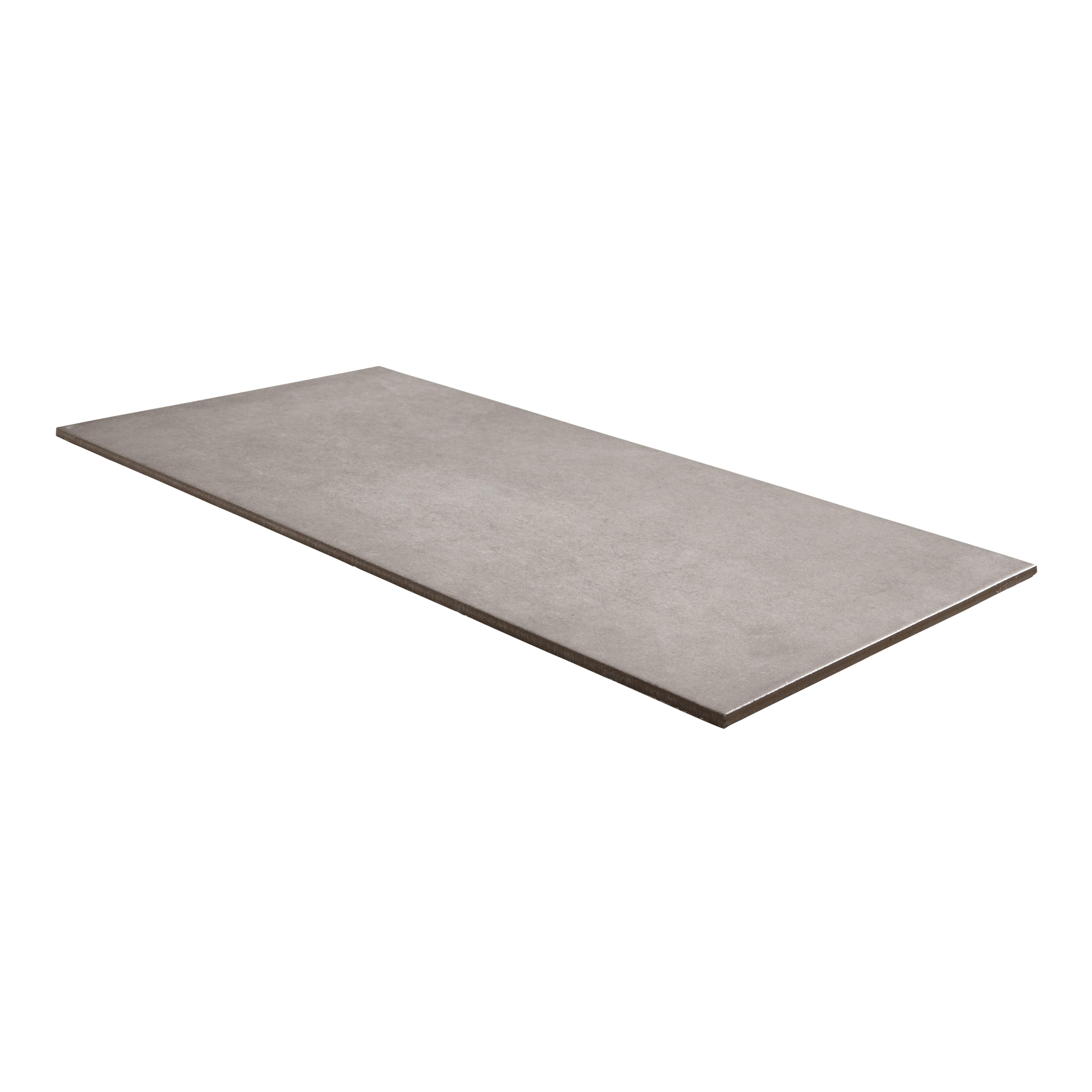 Konkrete Grey Matt Modern Porcelain Floor Tile Pack Of 8 L307mm