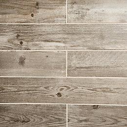 Cotage wood Beige Wooden effect Porcelain Wall &