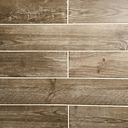 Cotage wood Light brown Wooden effect Porcelain Wall