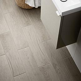 Arrezo Grey Matt Porcelain Floor tile, Pack of