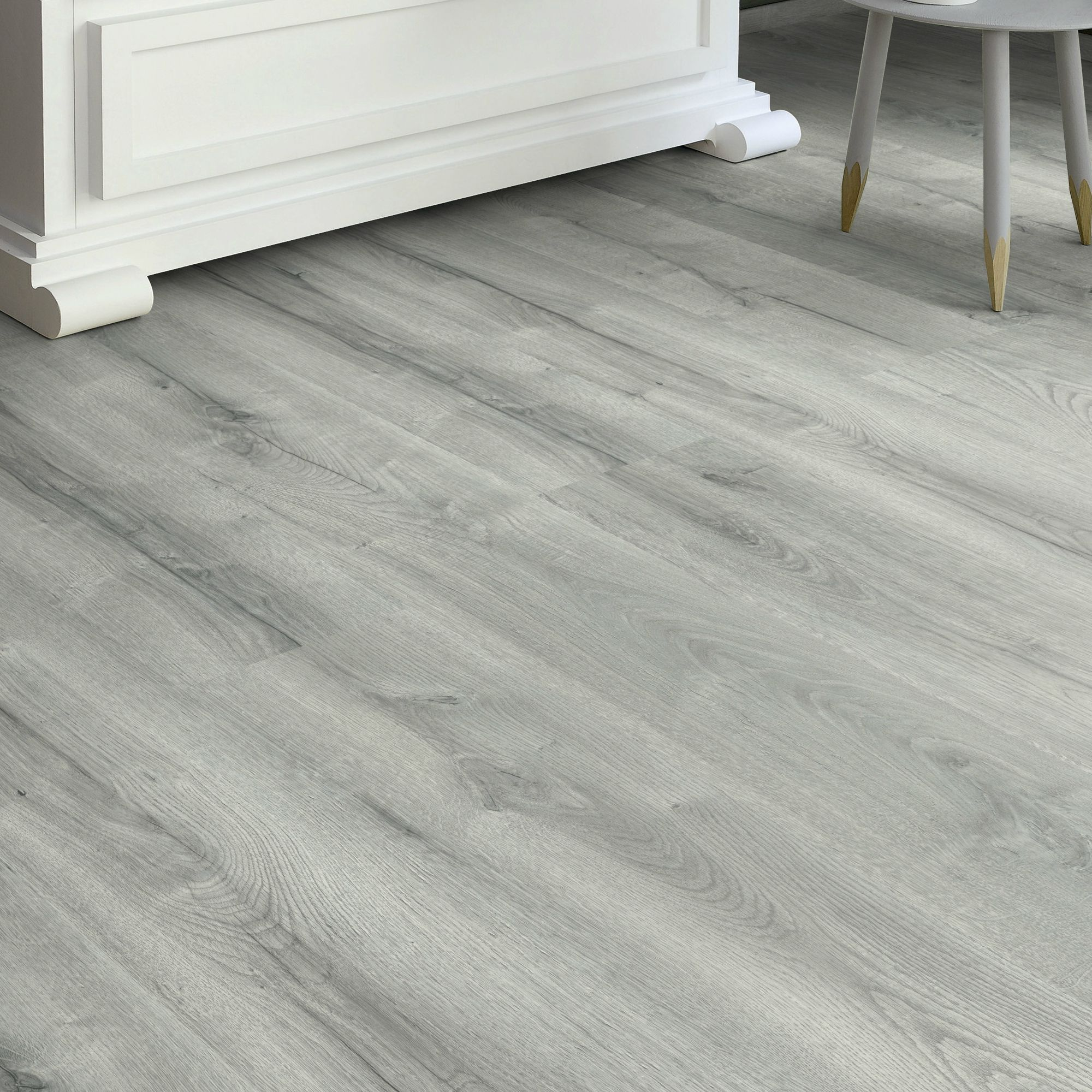 bathgate grey oak effect laminate flooring m pack. Black Bedroom Furniture Sets. Home Design Ideas