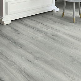 Bathgate Grey Oak effect Laminate flooring 2.14 m²