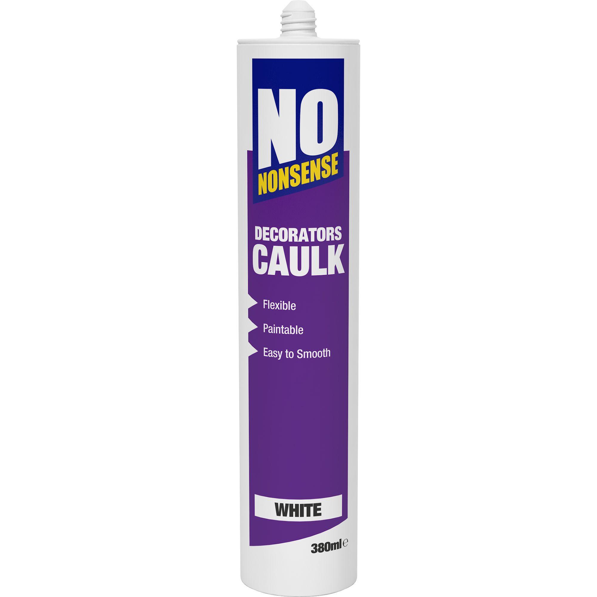 How Long Does Caulking Take To Dry In A Bathroom no nonsense 380ml white decorators caulk | departments | diy at b&q