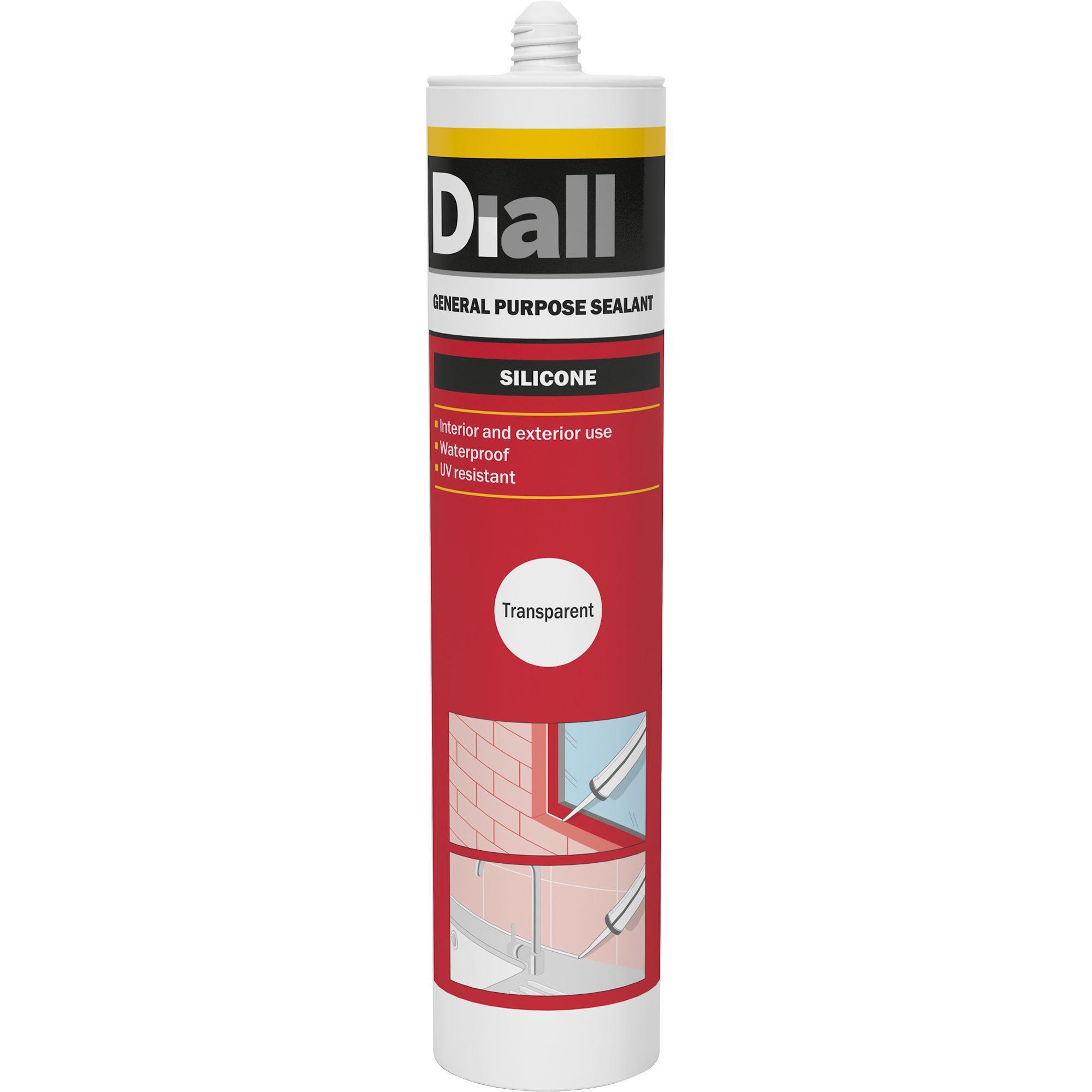 Diall Translucent General Purpose Sealant 300 Ml