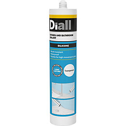 Diall Mould Resistant Translucent Kitchen & Bathroom Sealant
