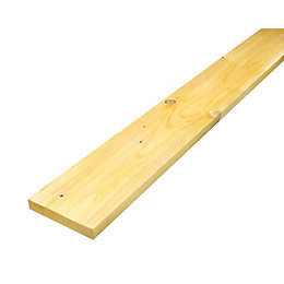 Rough sawn treated timber (T)22mm (W)150mm (L)3000mm