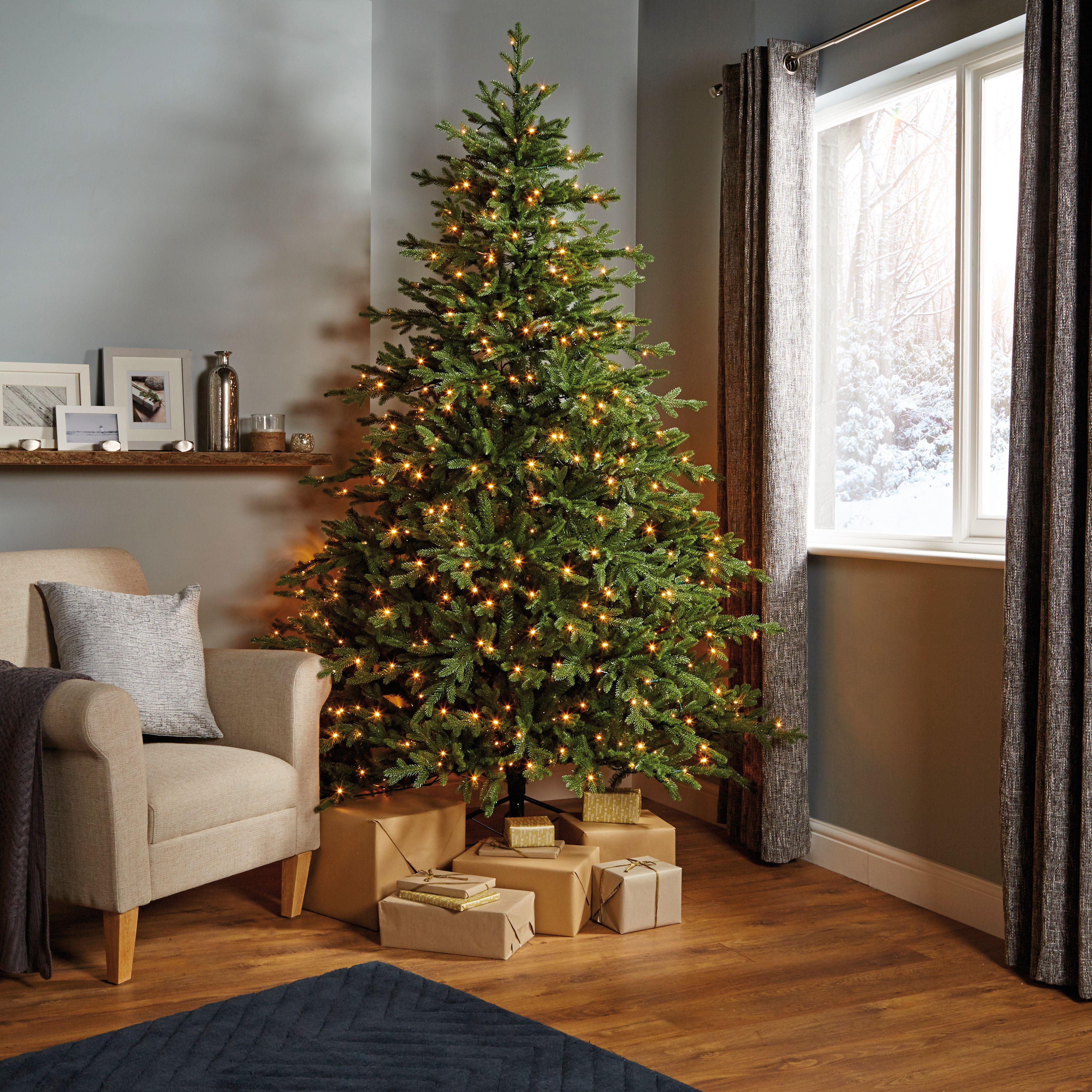Where To Buy A Pre Lit Christmas Tree: 7ft 6In Thetford Pre-Lit LED Christmas Tree
