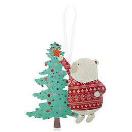 Polar Bear with Tree Decoration