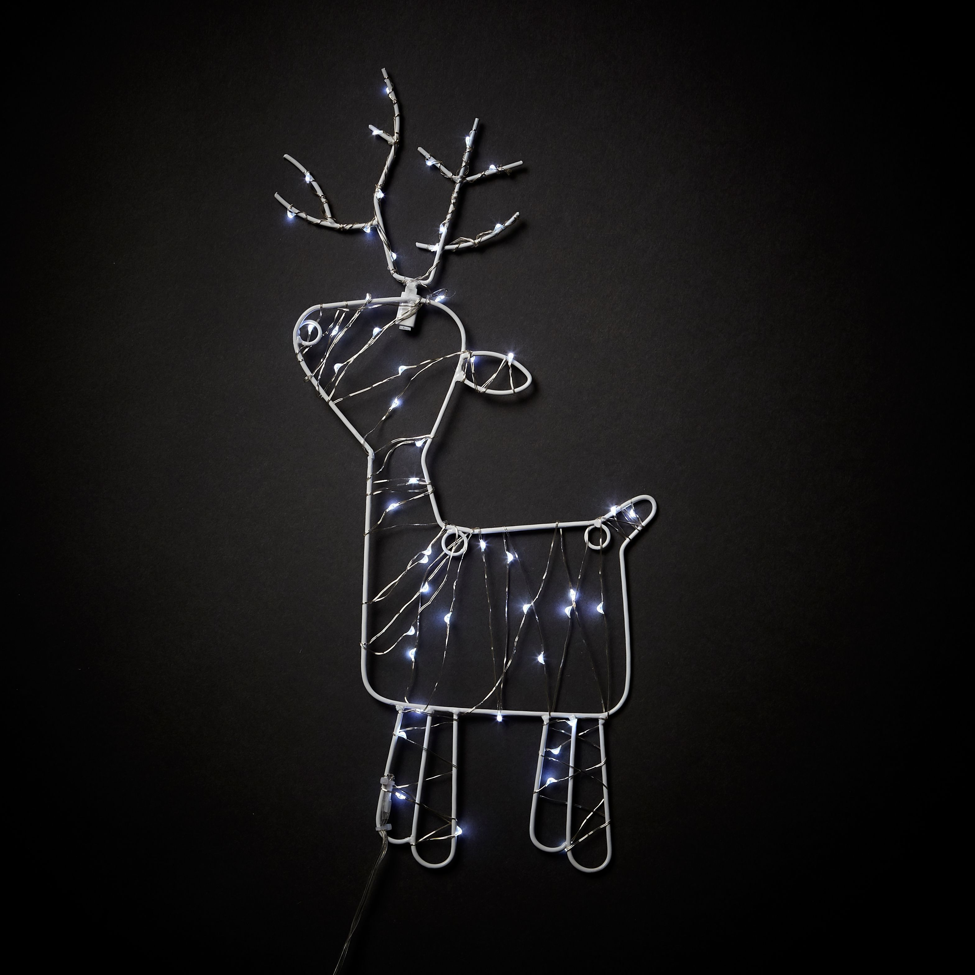 Battery Operated Static Light Function Wire Reindeer Silhouette Departments Diy At Bq Junction Box Wiring