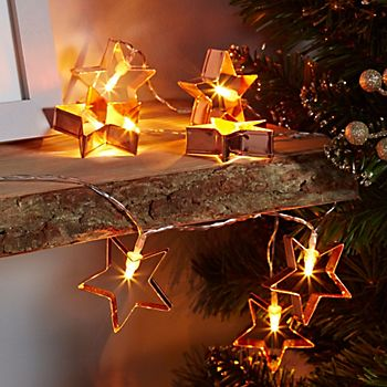 Copper wire star string lights