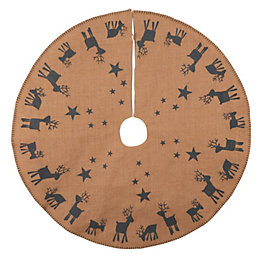 Reindeer Woodland Print Tree Skirt