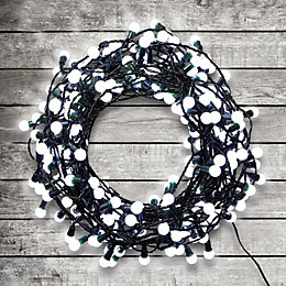120 Ice White LED Berry String Lights