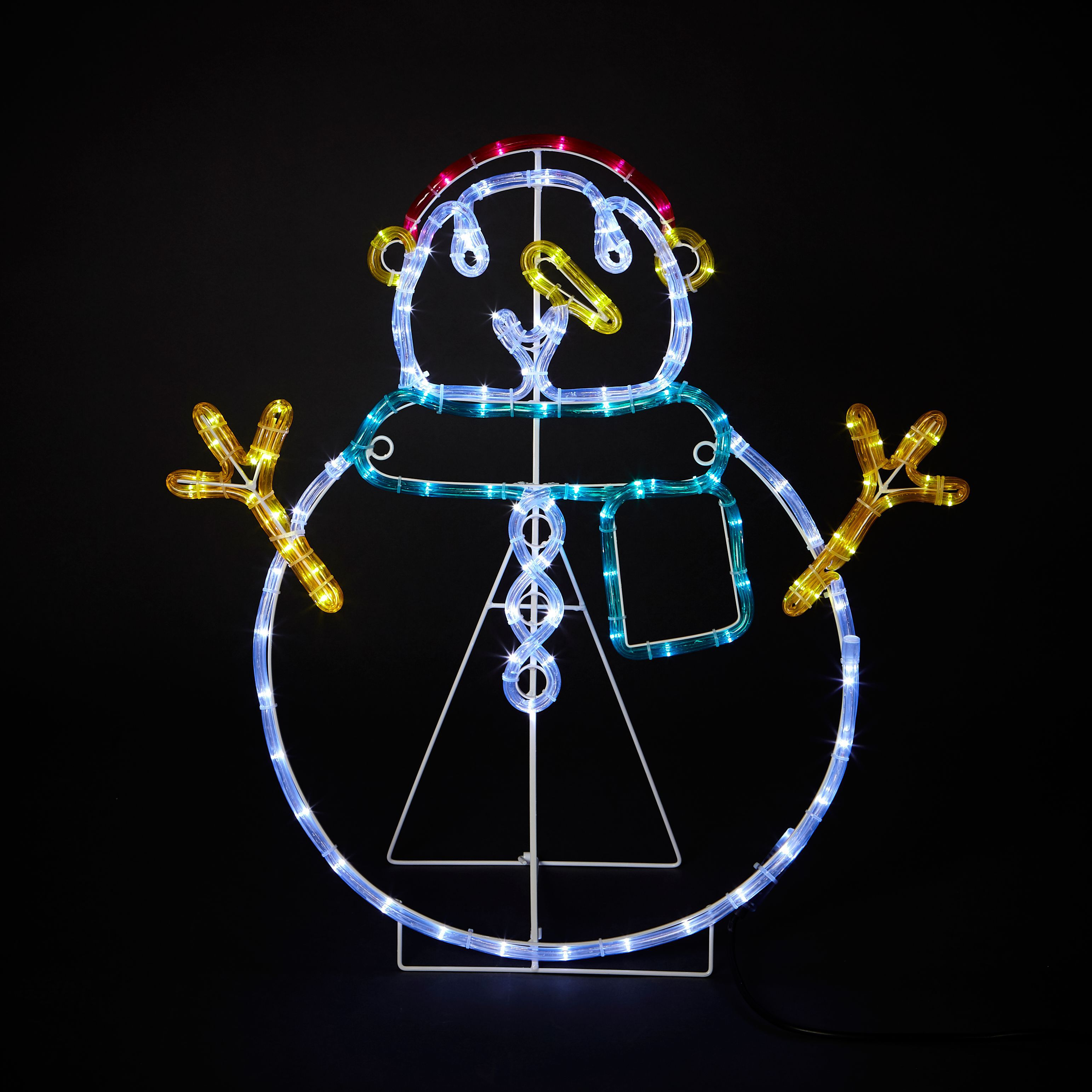 Mains powered led snowman silhouette departments diy at bq aloadofball Images