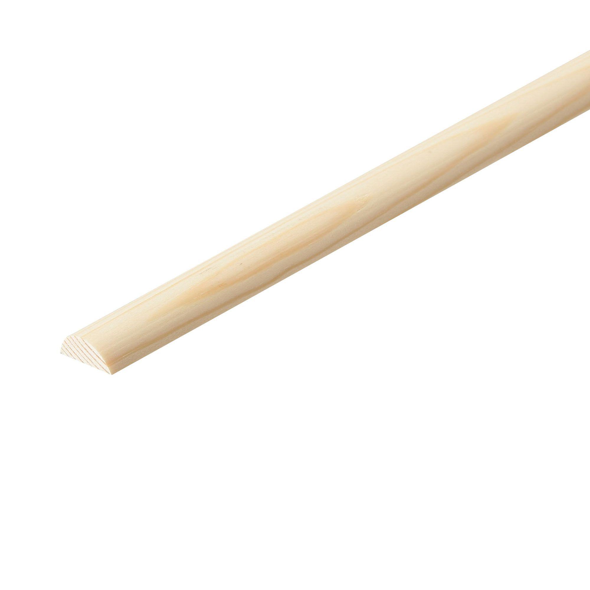 Pine Half dowel moulding (T)14mm (W)6mm (L)2400mm