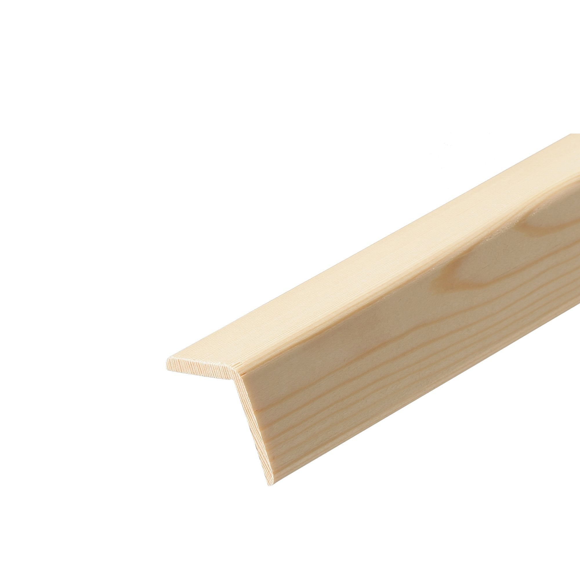 Pine Angle moulding (T)38mm (W)38mm (L)2400mm