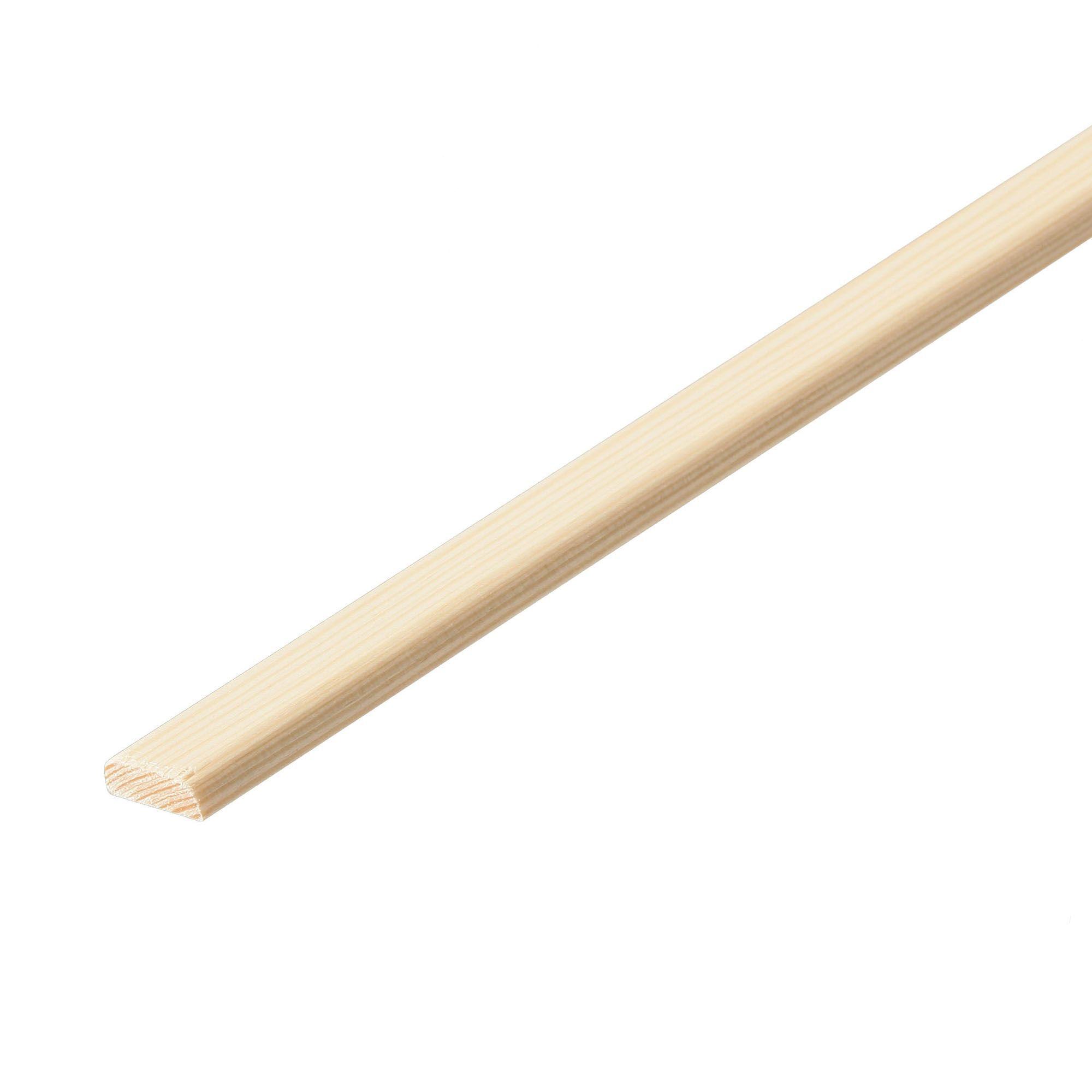Pine D shape moulding (T)4.5mm (W)20mm (L)2400mm