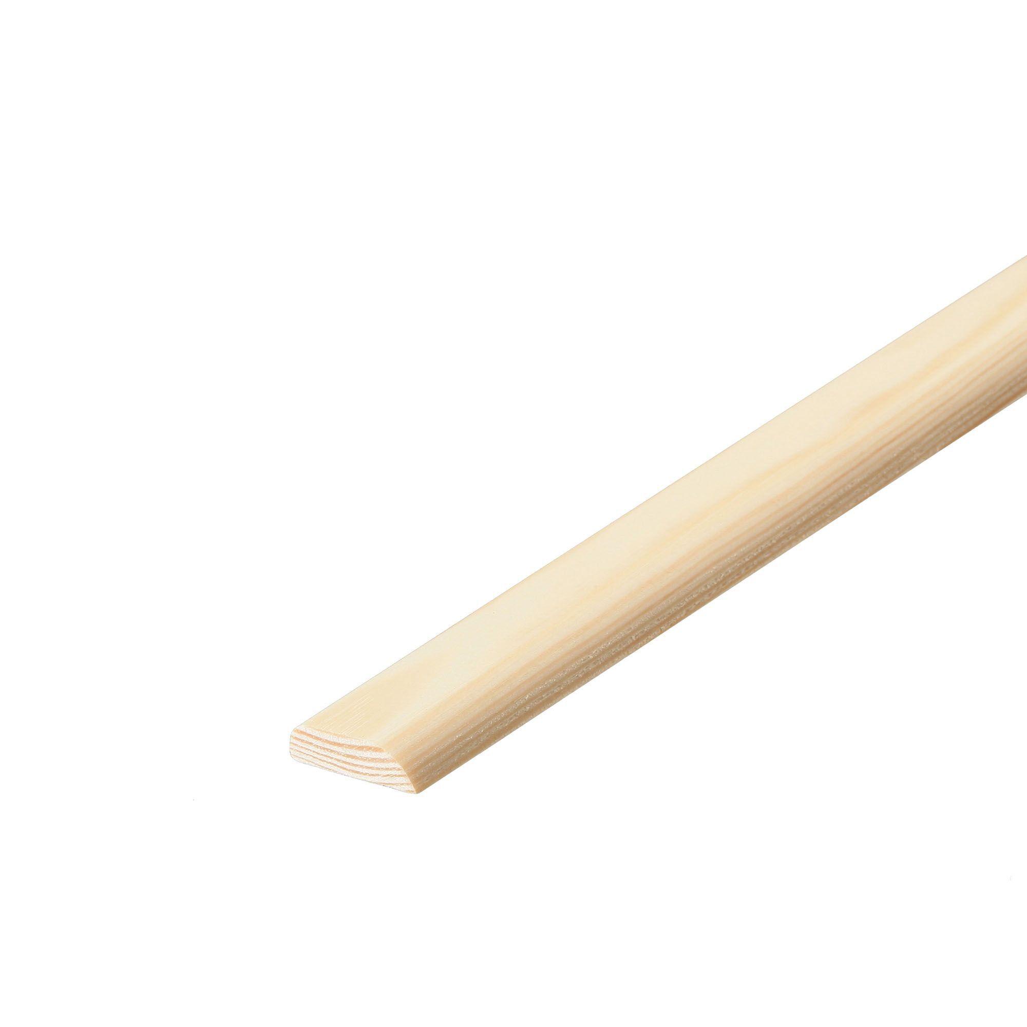 Pine D shape moulding (T)10mm (W)50mm (L)2400mm