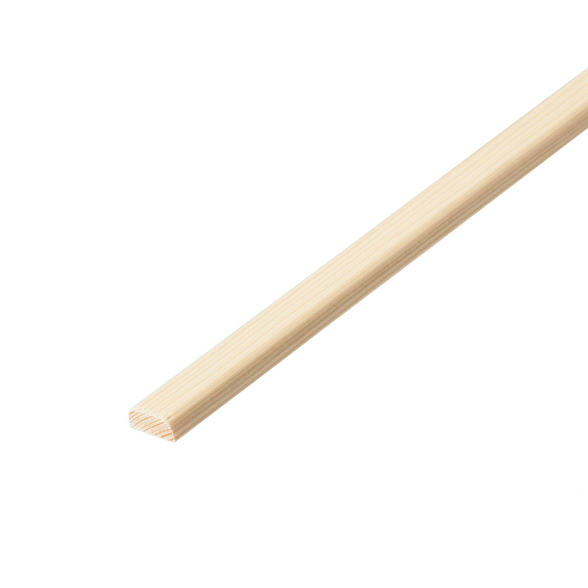 Pine D shape moulding (T)4.5mm (W)13mm (L)2400mm