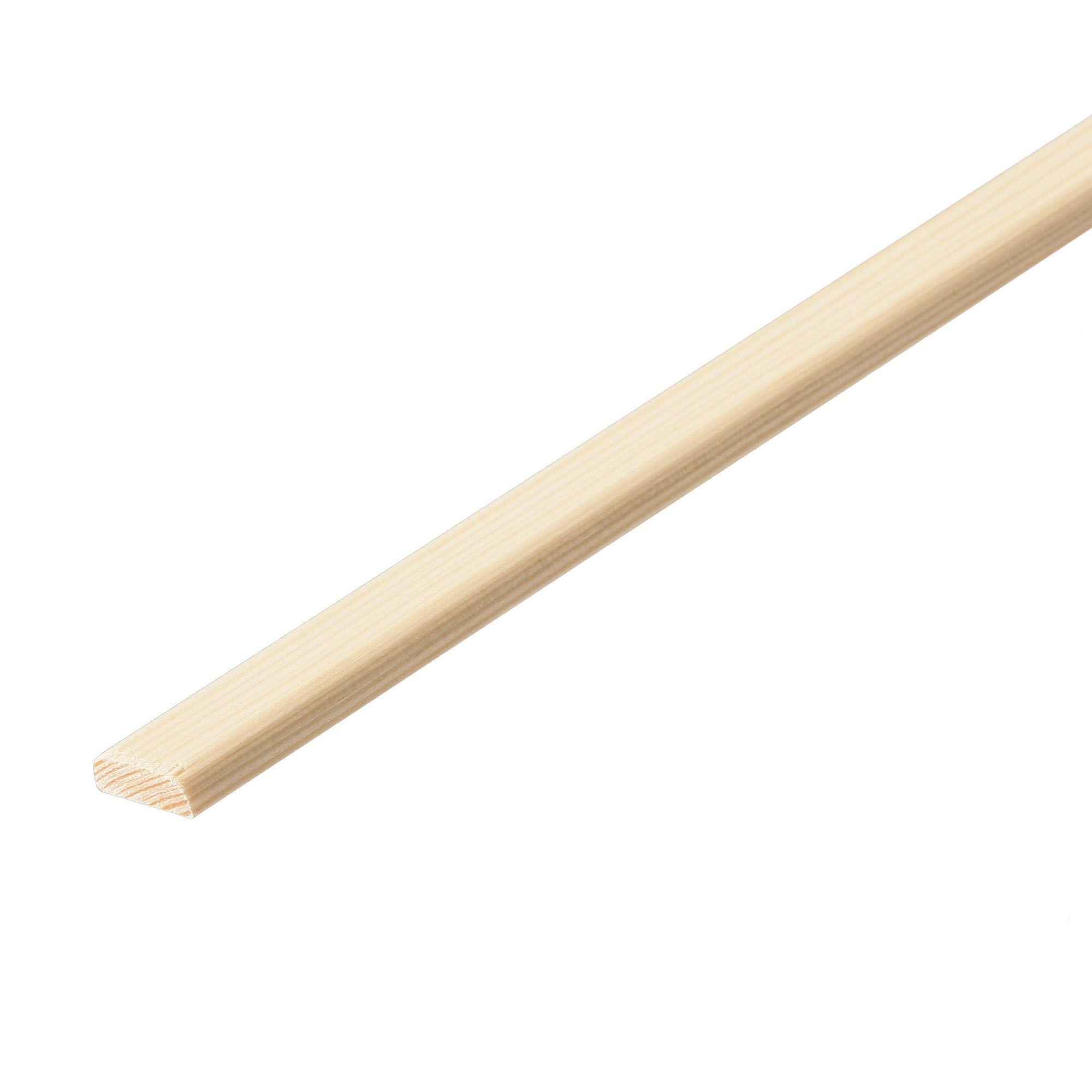 Pine D shape moulding (T)4mm (W)21mm (L)2400mm