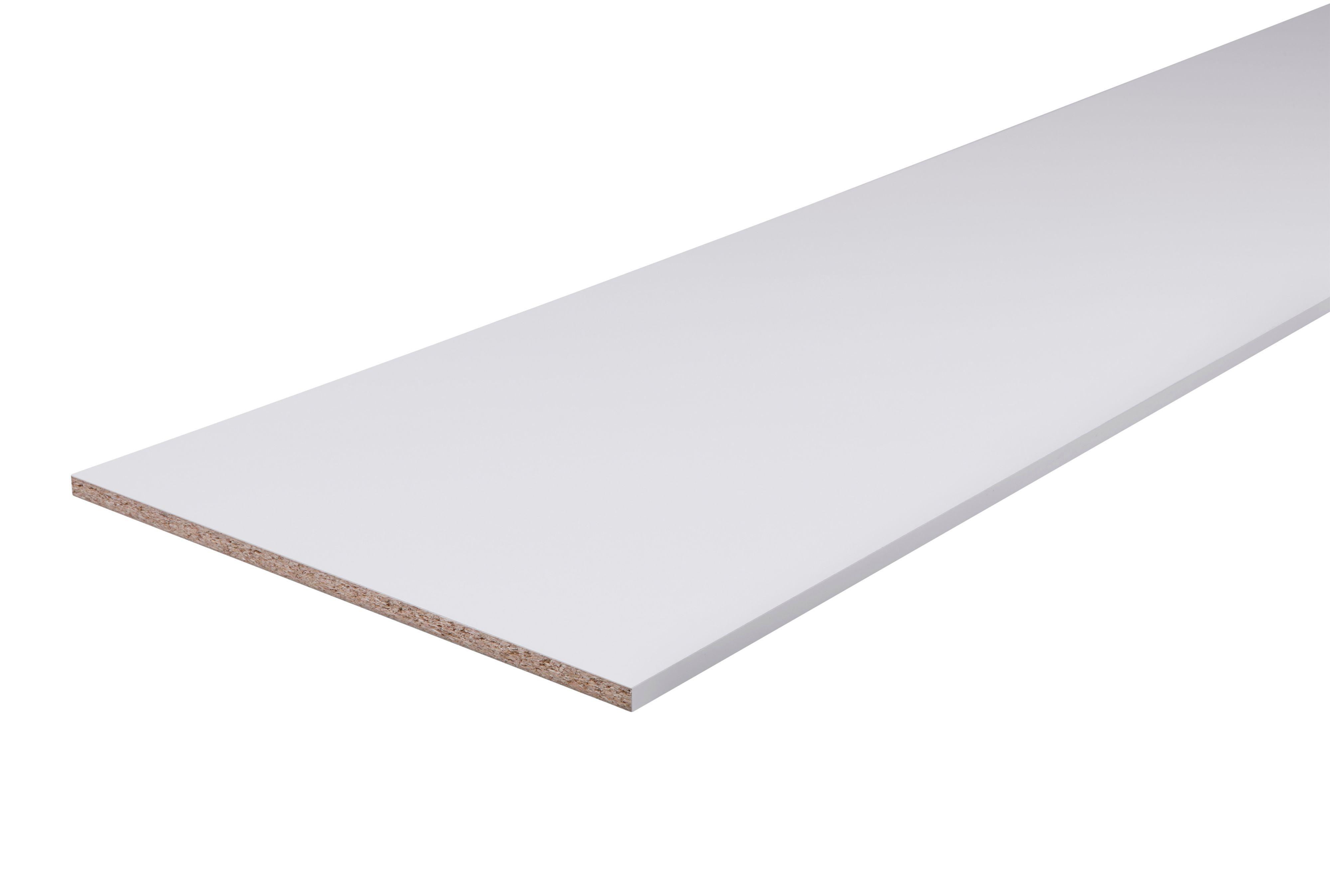 Chipboard White Furniture Board L 2500mm W 500mm T 18mm