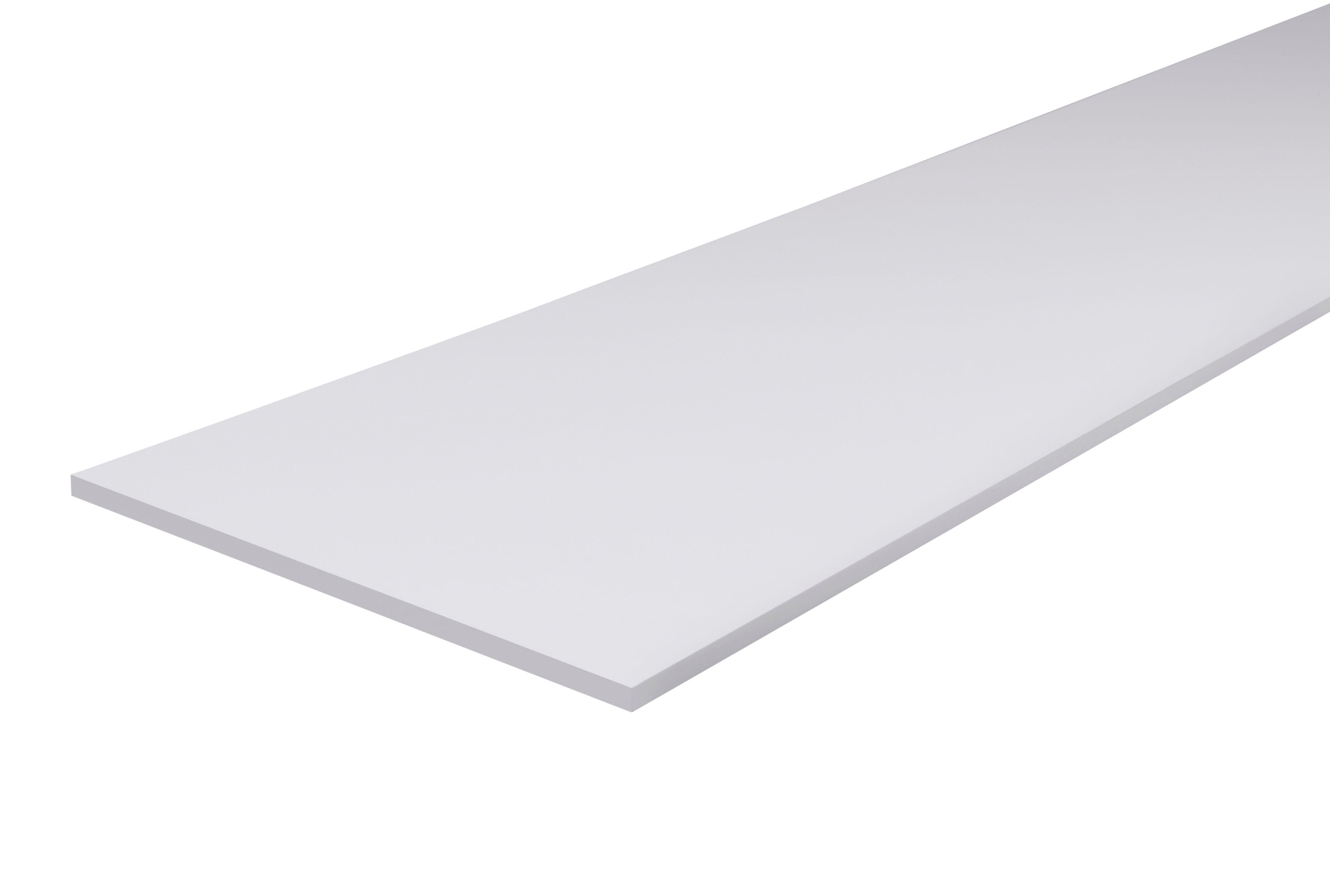 Furniture panel White (L)1200mm (W)200mm (T)18mm