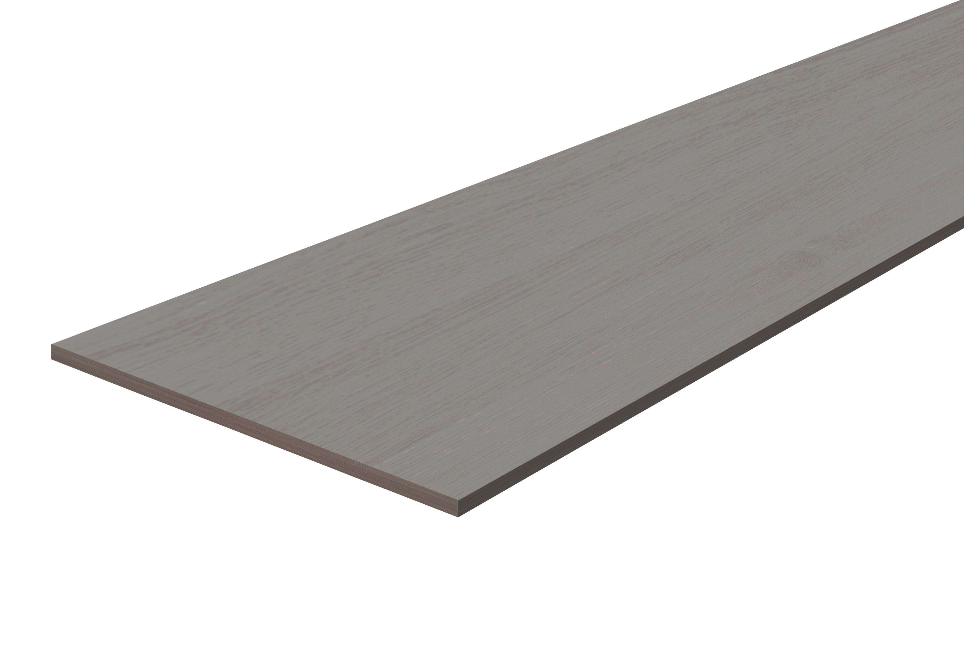 Chipboard Grey Oak Furniture Board L 1200mm W 300mm T
