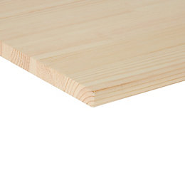 Pine Clear Square Edge Glued Panel (L)1200mm (W)400mm