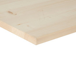 Spruce Knotty square edge glued panel (L)2000mm (W)300mm