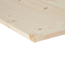 Spruce Knotty Square Edge Glued Panel (L)800mm (W)400mm