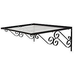 Geom Rayadito Steel & polycarboante Porch canopy (H)428mm