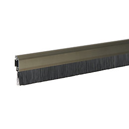 Diall Aluminium & brush Automatic draught excluder, (L)1000mm
