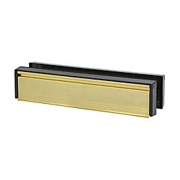 Diall Gold effect Letterbox with sleeve (H)67mm (W)305mm
