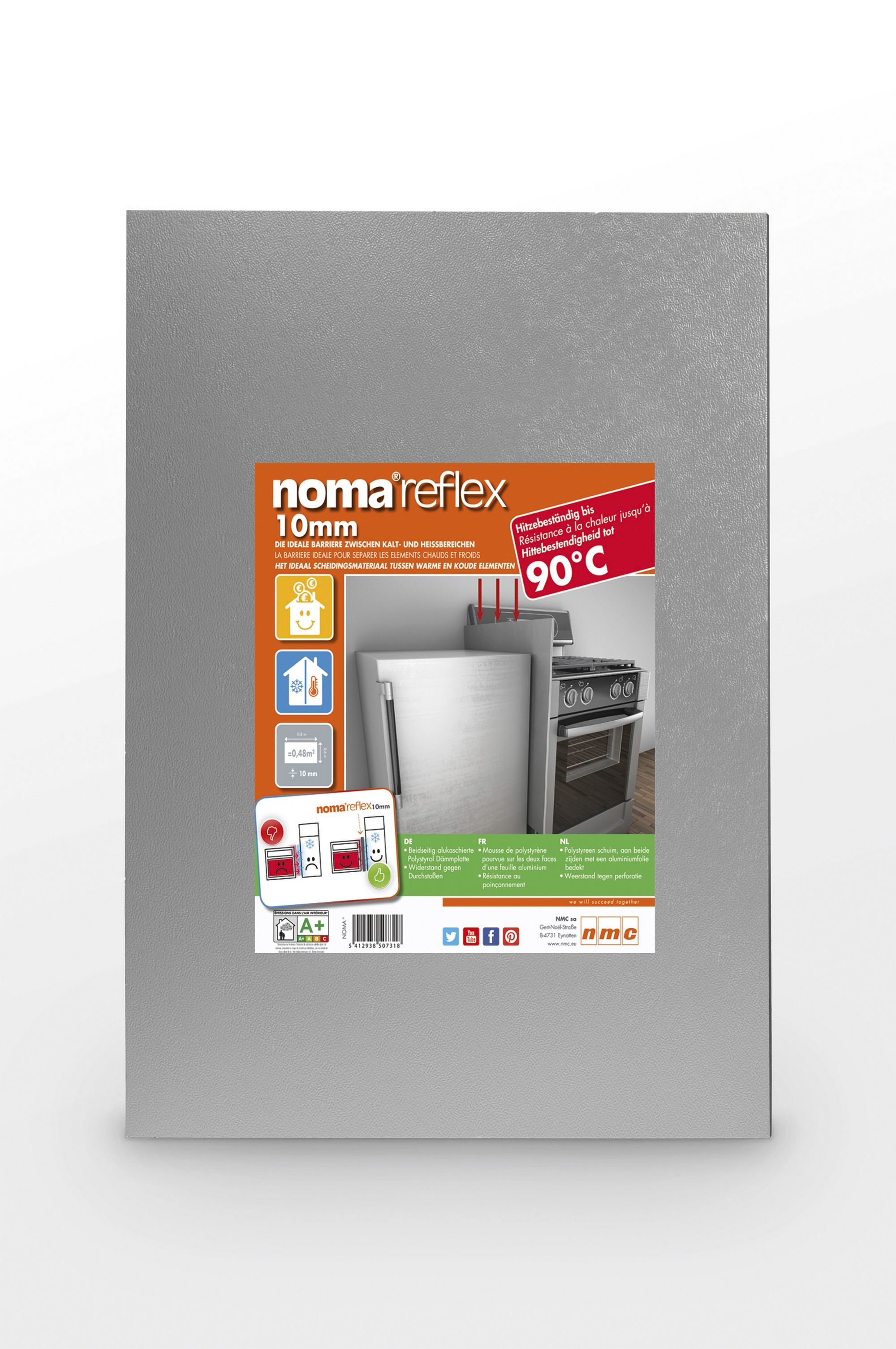 Noma Reflex Insulation board 800mm 600mm 10mm | Departments | DIY at B&Q