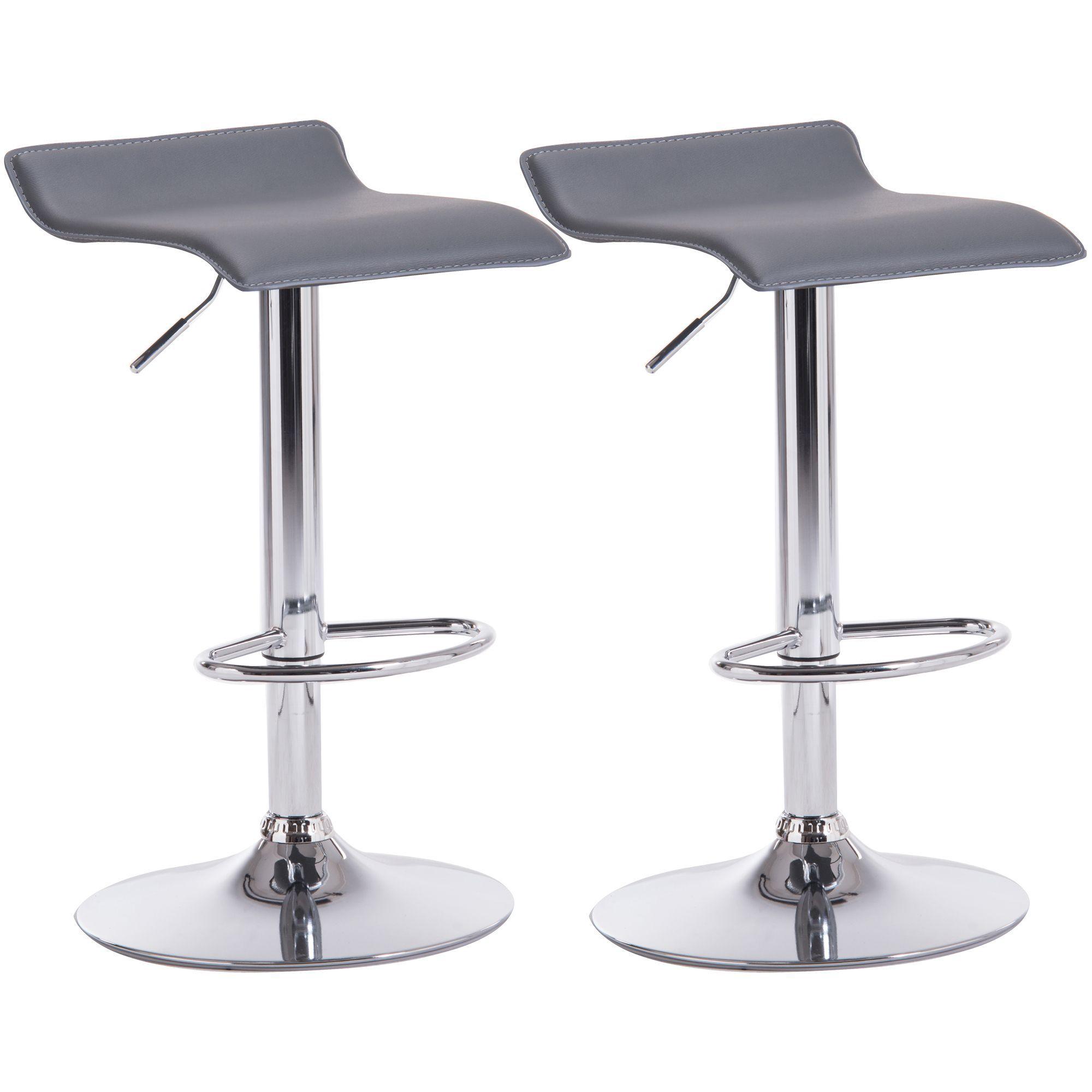 quality design e1833 85319 Daphne Grey & Chrome effect Bar stool (H)850mm (W)450mm, Pack of 2    Departments   DIY at B&Q